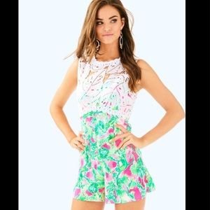 Raz Berry Catty Shack Romper! Lilly Pulitzer